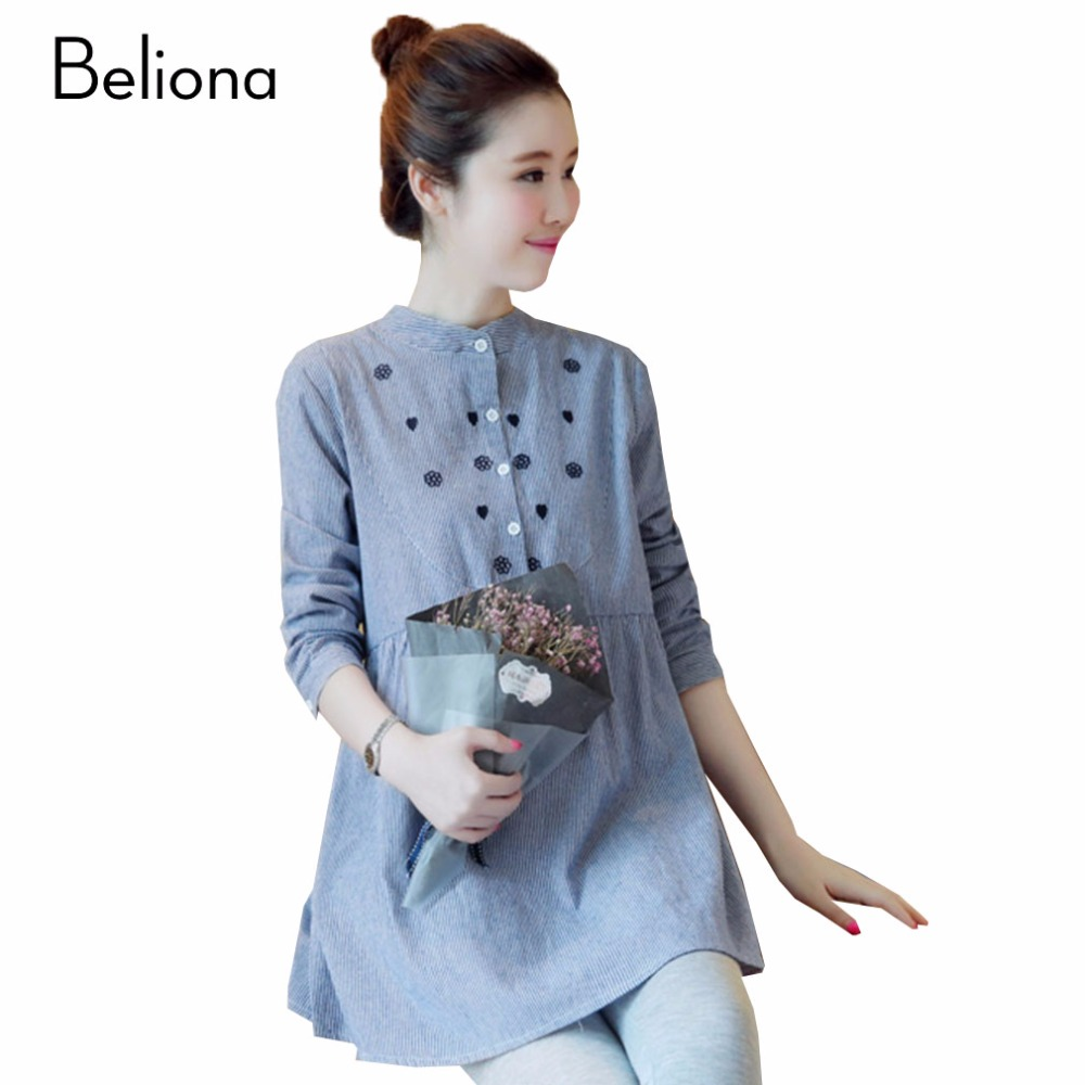 Fashion Stripe Blue Maternity Blouse Shirts For Pregnant Women Comfortable Loose Casual Pregnancy Clothes Pregnant Shirt Blouses Maternity Blouse Blouse Maternityblouses For Pregnant Women Aliexpress