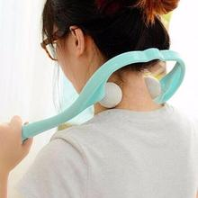 1PC Multi-color manual cervical massager home U-shaped doubl