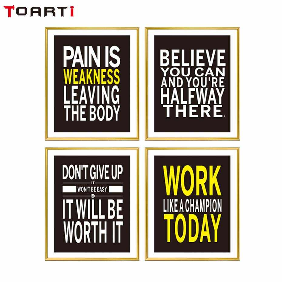 85b18d3f566d ... Workout Gym Motivational Quote Poster Canvas Art Print Picture  Inspirational Fitness Quote Canvas Painting Poster Gym ...