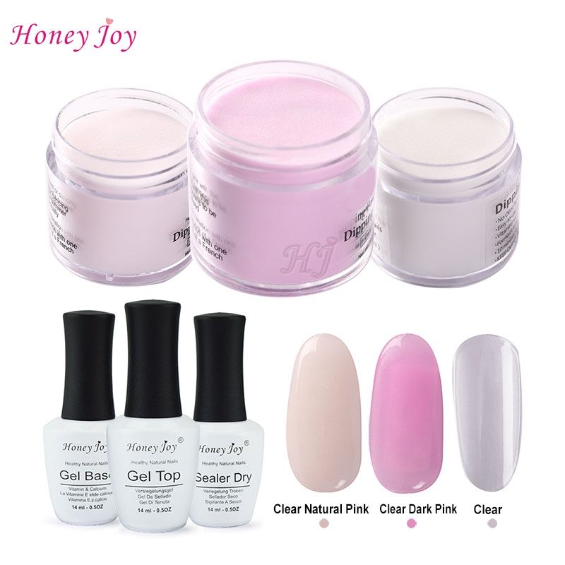 6 in 1 French Pink Tool Kits 28g/Box Dipping Powder Without Lamp Cure Nails Dip Powder Summer Gel Nail Color Powder Natural Dry