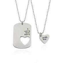 66df7eaf3096 De moda parejas collar amor corazón hueco colgante collar encanto amor  conjunto llevo tu corazón conmigo de collares de cadena