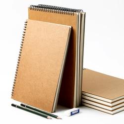 BGLN capa simples esboço livro A3/A4/A5 mão-pintado simples e durável fácil de limpar gado cartão esboço este fontes da arte