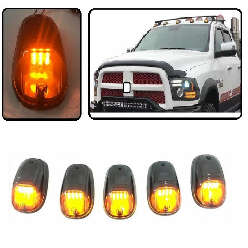 CAR STYLING EXTERIOR LED DAY DOME LIGHT CAB MARKET ROOF AMBER LIGHTS FIT FOR DODGE RAM 1500 2500 CHEVY CHEVROLET SILVERADO C300