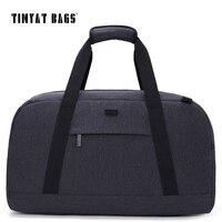 TINYAT Male Men Travel Luggage bag 40L Travelling bag Waterproof handbag package Luggage Bag Gray Trip Duffle Bag Weekender