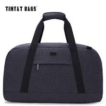 TINYAT New Male Men Travelling bag 40L Travel Luggage bag Nylon Large Capacity Handbags Casual bag Shoulder Duffle Bag Gray T307