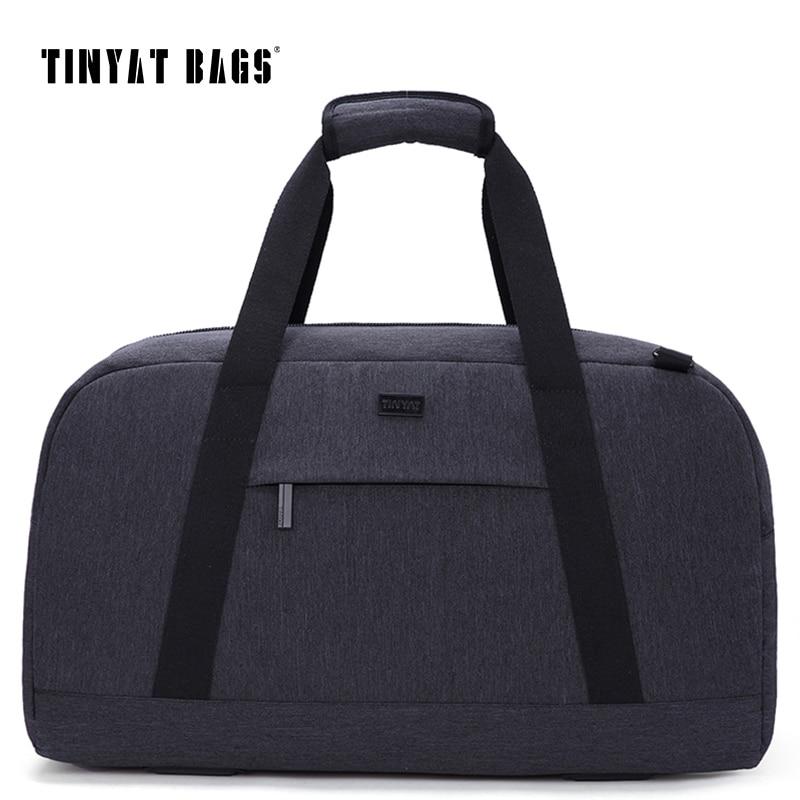 TINYAT New Male Men Travelling bag 40L Travel Luggage bag Waterproof handbag package Travel Bag Gray Trip Duffle Bag Weekender цена 2017