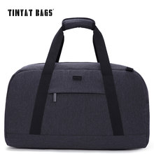 TINYAT Male Men Travel Luggage bag 40L Travelling bag Waterproof handbag package Luggage Bag Gray Trip Duffle Bag Weekender(China)