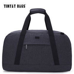 TINYAT para hombre, bolsa de viaje para hombre, bolsa de viaje de 40L, bolso impermeable, bolsa de equipaje, bolsa de viaje gris, bolsa de viaje Weekender
