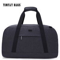 TINYAT New Spring Men Travelling Bag 40L Luggage Travel Bag Shoulder Duffle Bag Women Gray Nylon