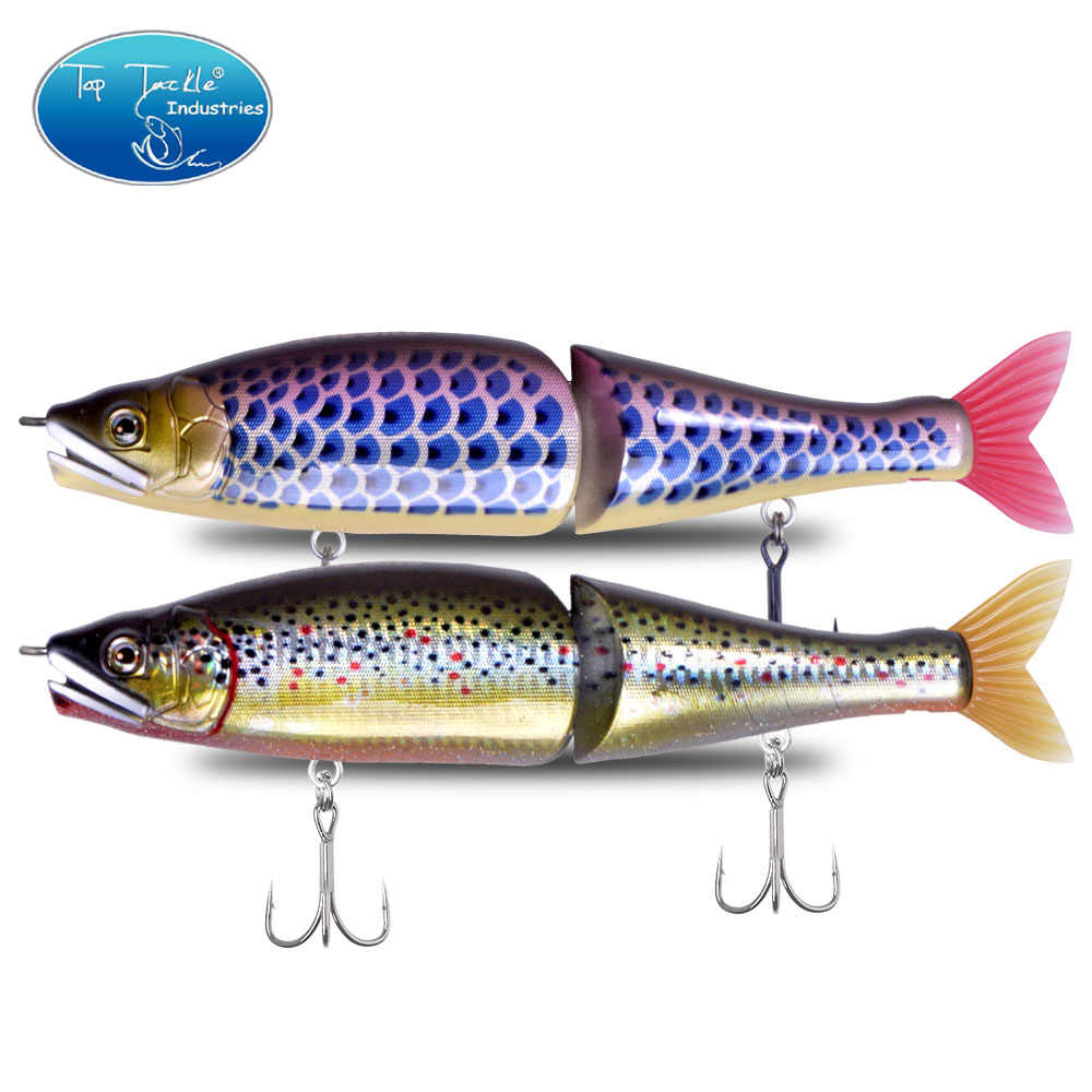 "220mm 9""  Slow Sinking Saltwater Or Floating Freshwater Big Bass Fishing Jointed Baits Swimbait Fishing Lure 8 colors"