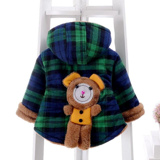 ROMIRUS Invierno de Los Niños Wadded prendas de Vestir Exteriores Hombre Mujer Niño Oso Bebé de la Capa Muchacha de Los Muchachos de Algodón Acolchado Engrosamiento Chaqueta