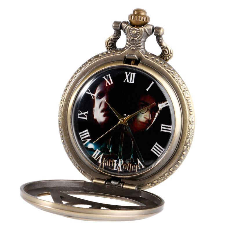 Χάλκινο Vintage Τρίγωνο Το Deathly Hallows - Ρολόι τσέπης - Φωτογραφία 2