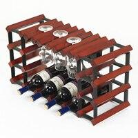 Коммерческие бар чистого дерева винограда винный шкаф висит перевернутый Кубок Стекло полки красное вино держатели бытовой шкаф витрина д