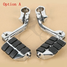 цена на Motorcycle Universal Adjustable Highway Foot Pegs Footrest  pedals 1 1/4 32mm  Engine Guard Mounts Clamps For Harley honda