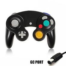 HAOBA เกม JoyPad การสั่นสะเทือนสำหรับ Ninten สำหรับ Wii GameCube Controller Pad 2 อินเทอร์เฟซ Multi สี