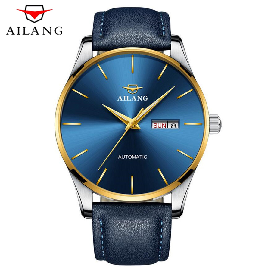 Sport Ultra-thin Watch AILANG classic Automatic Mechanical Watches Mens Watches Top Brand Luxury Montre Homme Clock Men 2018 ailang date month display rose gold case mens watches top brand luxury automatic watch montre homme clock men casual watch