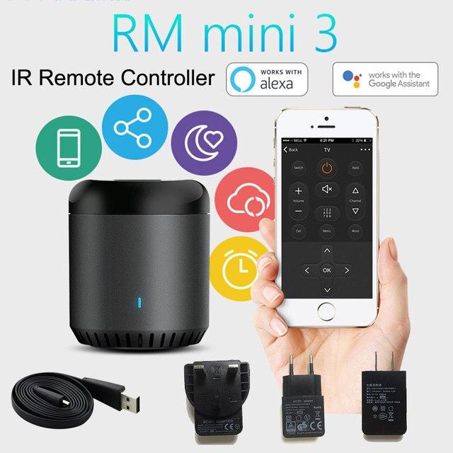 Control remoto RM Broadlink Mini3 Universal inteligente WiFi/IR/4G inalámbrico controlador remoto IR a través de IOS Android casa inteligente automatización 2019 nuevo