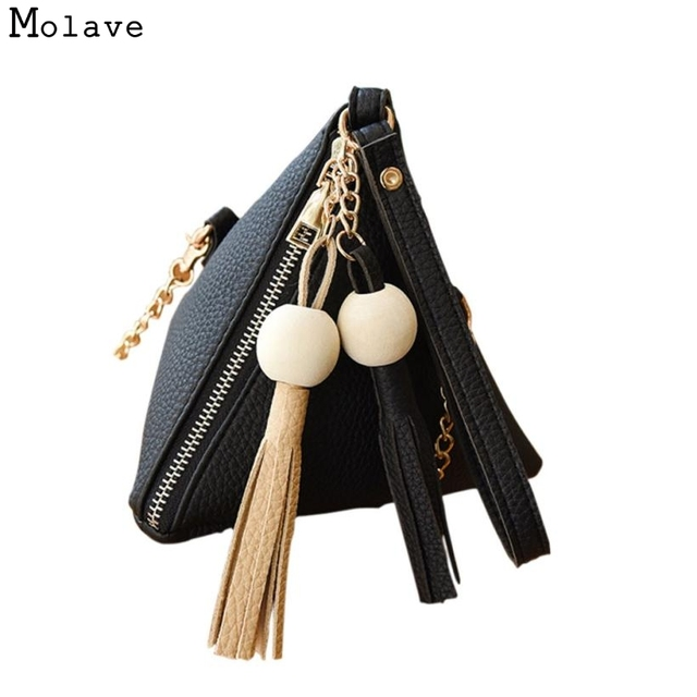 041b837eae547 Naivety Women Handbag Tassel Shoulder Bag Beading Purse Mini Triangular PU  Leather Bag 28S7720 drop shipping