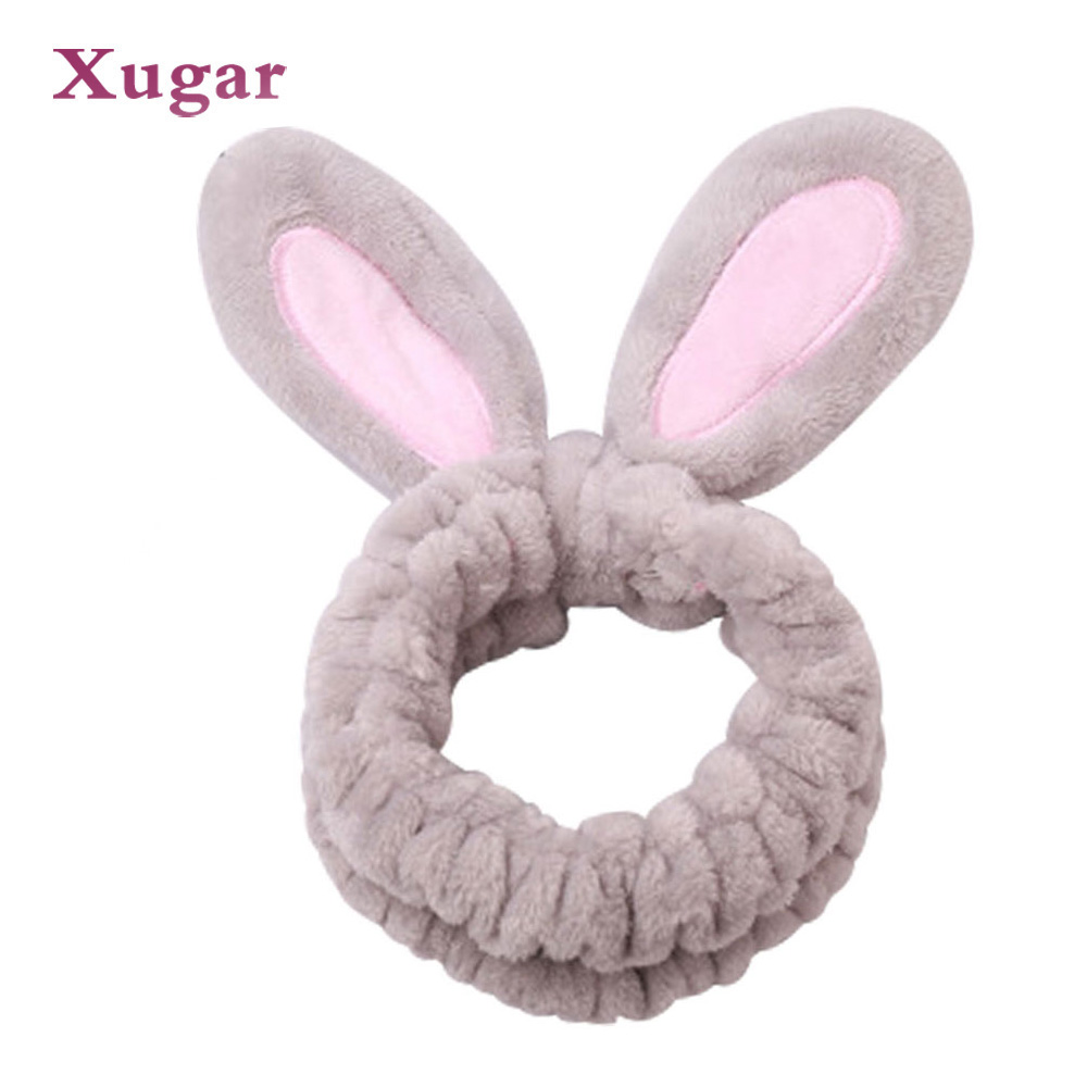 Practical New Style Bowknot Makeup Knot Headbands Colourful Cute Rabbit Ears Accessories For Girls Accessory Turban Headband Christmasgift Apparel Accessories