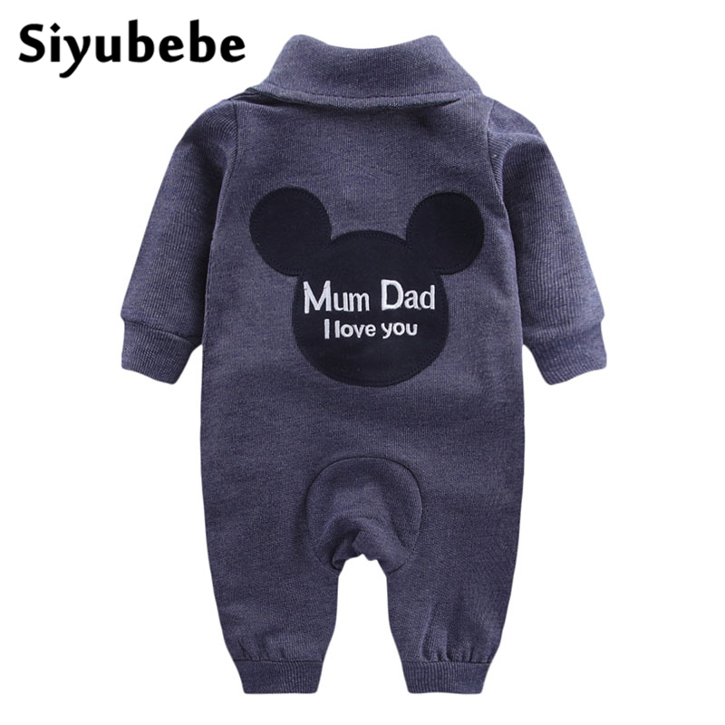 2017 Baby Boys Clothes Long Sleeve Jeans Rompers Infant Newborn Roupas Bebe Jumpsuit Spring Denim Cardigan Girls Climb Clothing 2017 spring newborn rompers baby boys girls clothes long sleeve cute cartoon face cotton infant jumpsuit queen ropa bebes 0 24m