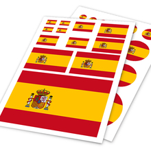 A4 Sheet Spain Flag Colored Print Car Styling Hellaflush Sticker Auto Motorcycle Bicycle Laptop Skatboard Ipad Phone DIY Decals