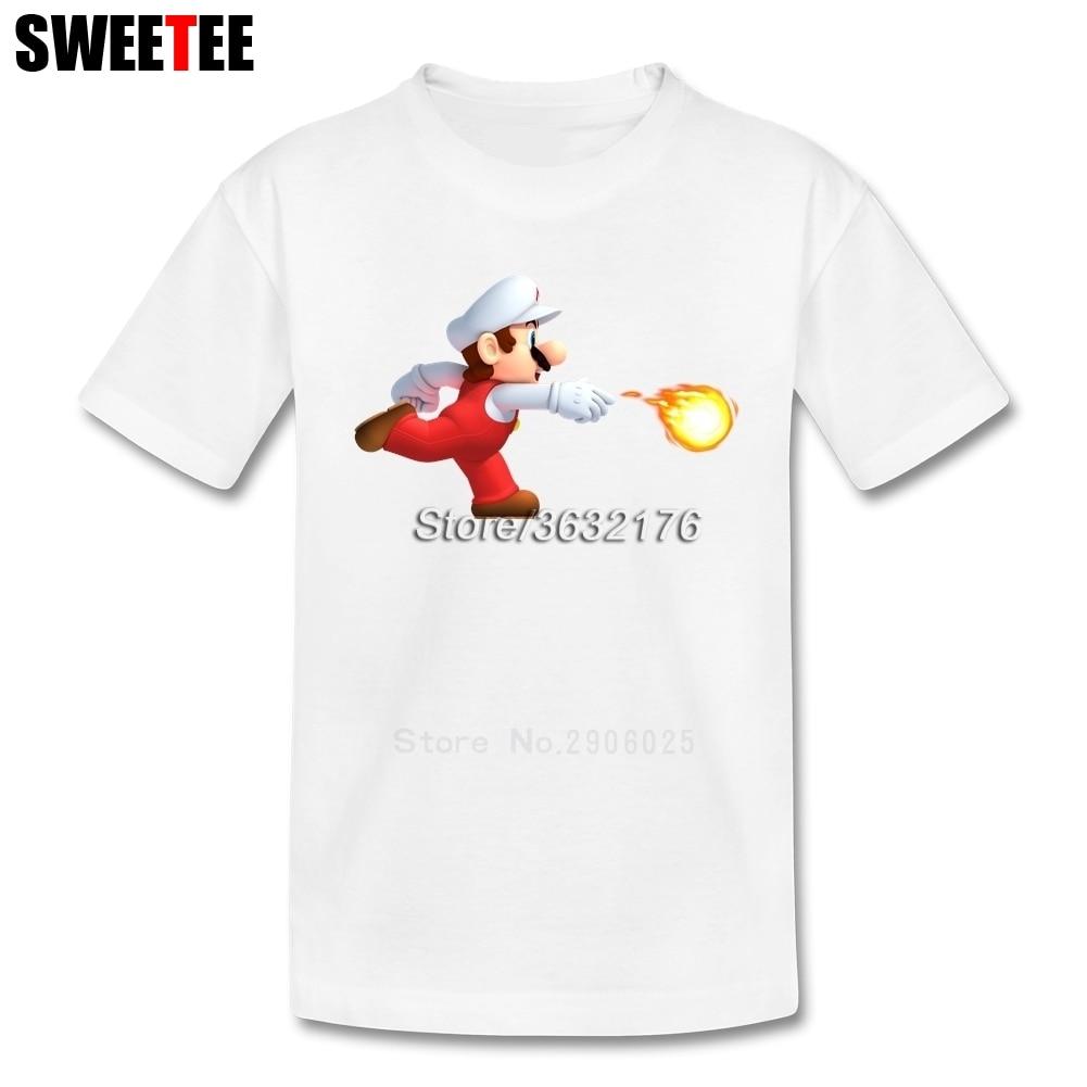Fire Mario Children Toddler Clothing T Shirt Infant 100% Cotton Boy Girl 2018 T-shirt Crew Neck Kid Tshirt