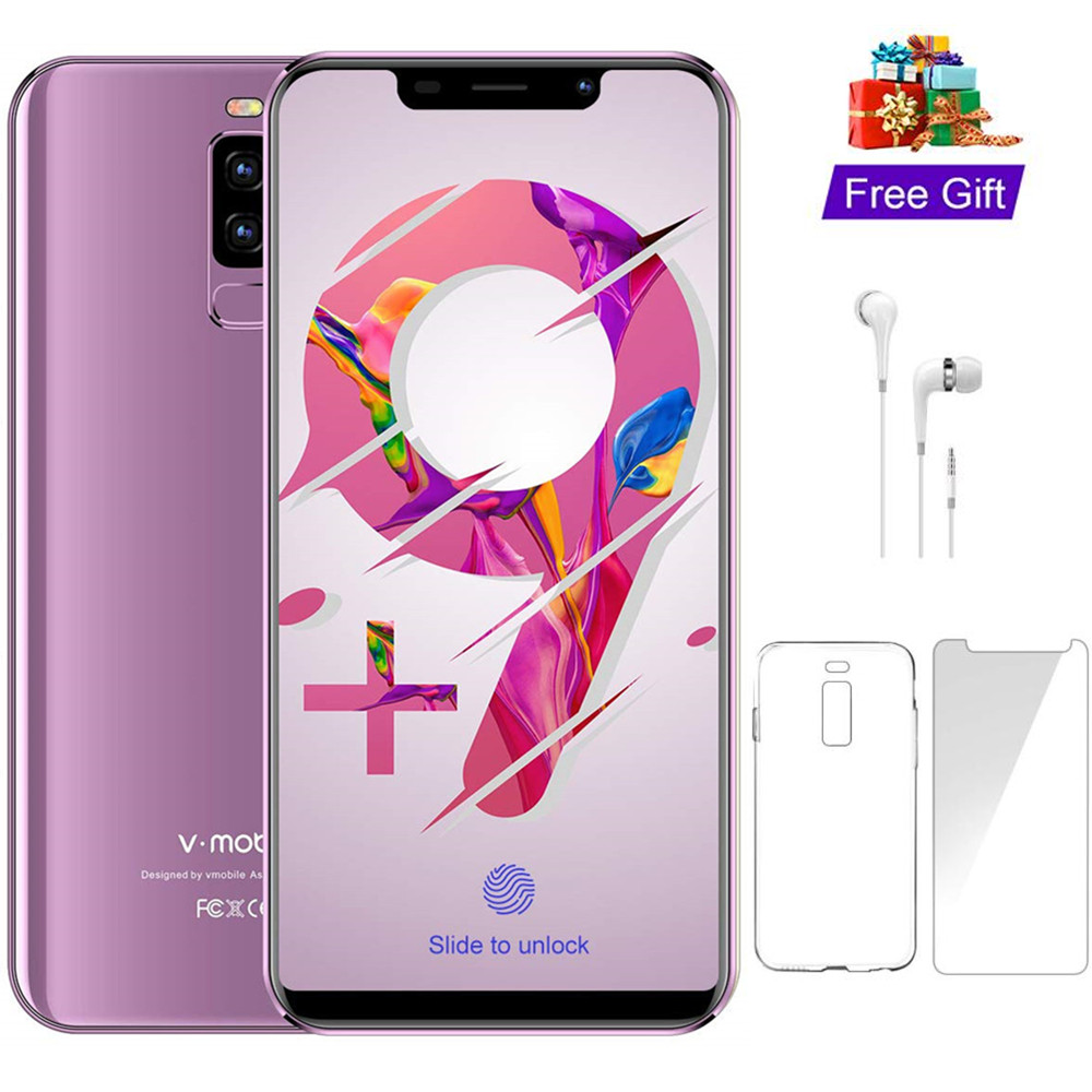 "TEENO VMobile S9 Mobile Phone Android 8.1 5.84"" Full Screen 19:9 3GB+16GB Dual Sim Celular 4G LTE Smartphone Unlocked Cell Phone"