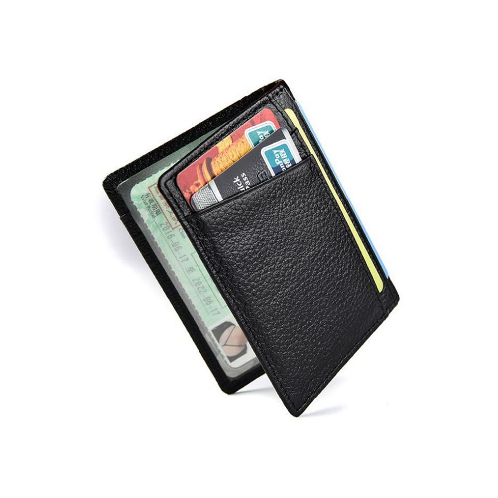 Super Slim Soft Wallet 100% Sheepskin Genuine Leather Mini Credit Card Wallet Purse Card Holders Men Wallet Thin Small
