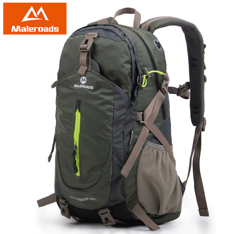 <font><b>Maleroads</b></font> 40L Classic Travel Backpack Outdoor Camping Hiking <font><b>Mochilas</b></font> Waterproof Nylon Trekking Climbing Back Bags For Men Women image