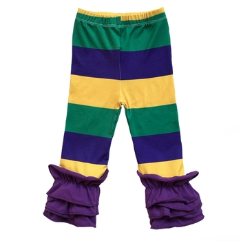 Mardi Gras Colors Purple, Green and Gold Baby Girls Clothes