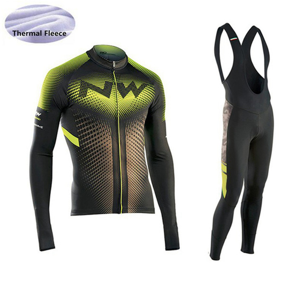 2018 New Winter Thermal Fleece long sleeve Men's NW Cycling Jersey Ropa ciclismo Bicycle Bike Clothing maillot