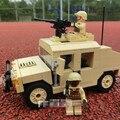 Decool 2111 bloques de construcción moderna guerra ee. uu. militar m1025 hmmwv humvee armamento tropa de carga del vehículo compatible con leping diy