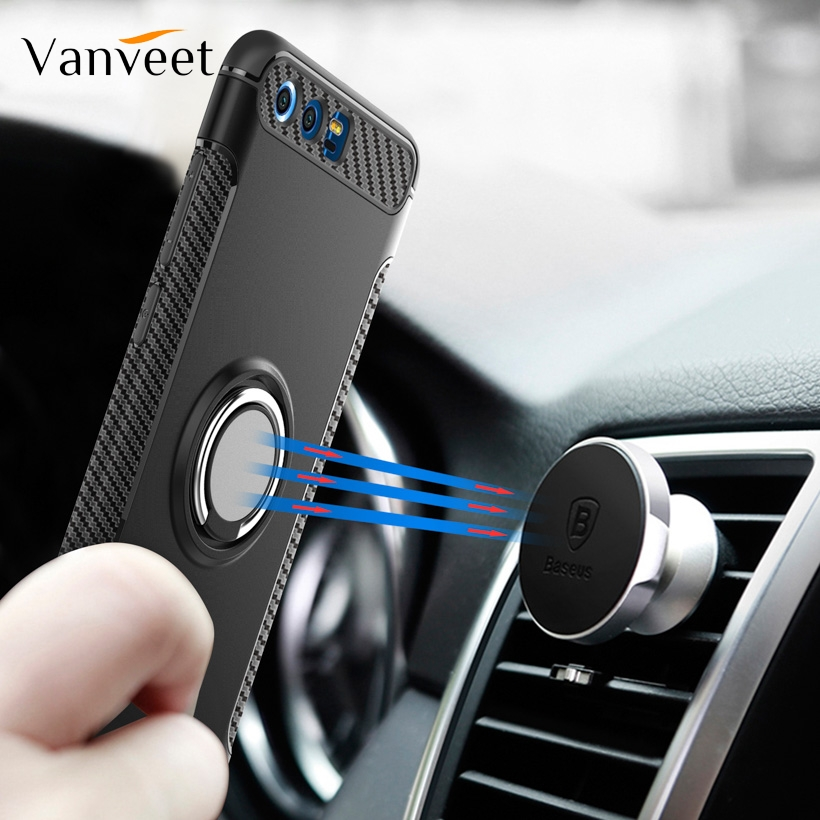 Magnetic Armor Cover For Huawei Honor 10 Lite Mate 20i 8S P20 Pro P30 Note V10 V20 7X 8X Max V8 V9 Play 3i Nova 5T Case Silicone image