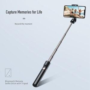 Image 3 - ロック Bluetooth Selfie スティックポータブルハンドヘルドスマート電話カメラの三脚用のワイヤレスリモコンで iphone サムスン Huawei 社の Android