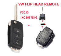 1K0 959 753 G 1K0959753G Folding Flip Key Keyless Entry Remote Transmitter For VW VOLKSWAGEN SEAT