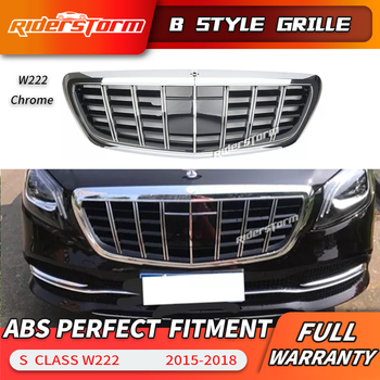 NEW S Class Grille For Mercedes W222 Sedan Front Racing Grill 2015-2018 S320 S400 S350 S500 S450 grille