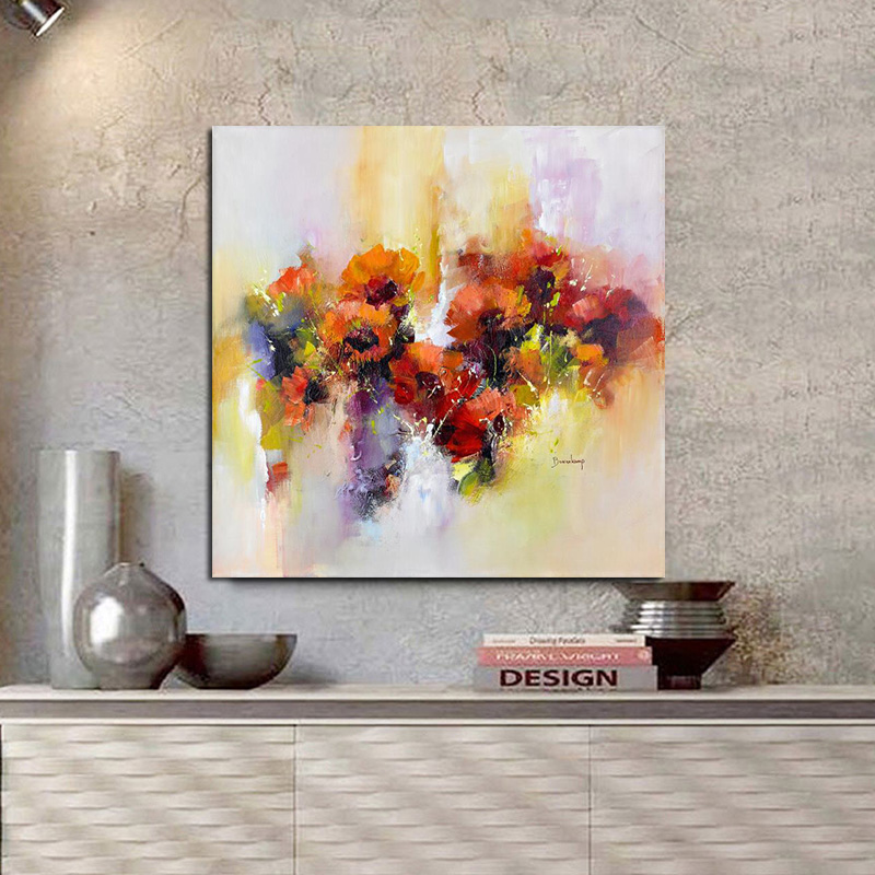 Watercolor Poster Red Poppies Flower Oil Painting Print on Canvas Pop Art Abstract Modern Cuadros Wall Picture for Living Room