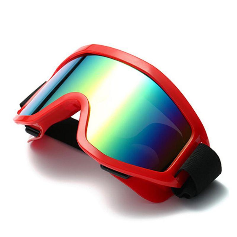 Glasses Ski Snowboard Goggles Windproof Dustproof Anti Fog Adjustable Elastic Winter Outdoor Sports Eyewear