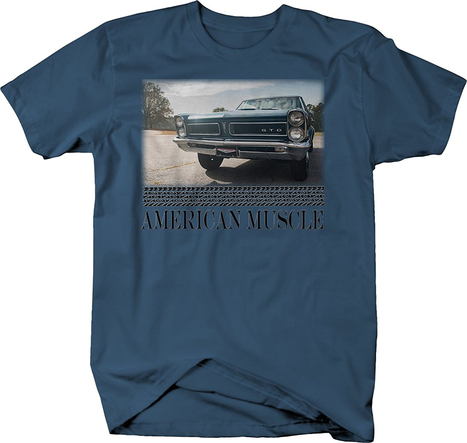 2019 New Summer Slim Tee Shirt American Muscle Pontiac GTO <font><b>V8</b></font> Double Headlights Hotrod <font><b>Tshirt</b></font> Fashion T-shirt image