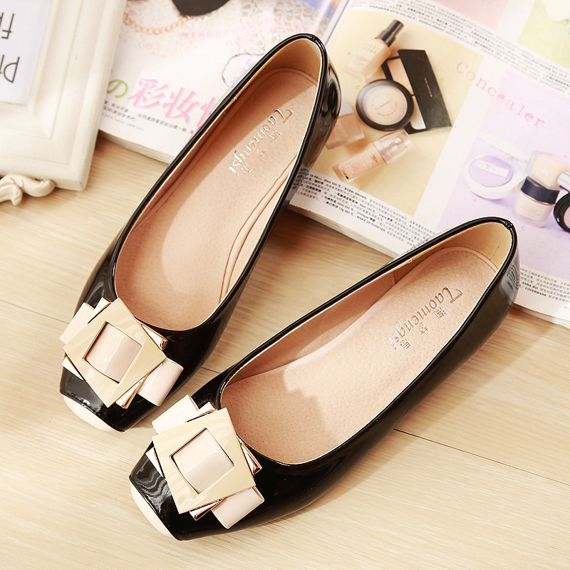 spring autumn loafer women shoes ladies ballet flats woman ballerinas casual shoe sapato zapatos mujer womens shoes plus size 43 2017 Spring Shoes Woman Elegant Square Toe Slip On Ballet Flats Sweet Casual Flat Shoes Women Ballerina Shoe Plus Size 33-43