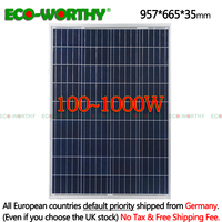 ECO 1/2/3/4/6/8/10pcs 100W Watts 12V Volt Poly Solar Panels Polycrystalline Battery Charging Off Grid Caravan Home 12V 600/800w
