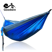 2 People Hammock Camping Survival Garden Hunting Leisure Travel Double Person Portable Parachute Hammocks