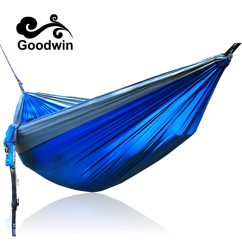 2 people Hammock Camping Survival garden hunting Leisure travel Double Person Portable Parachute Hammocks thicken canvas single camping hammock outdoors durable breathable 280x80cm hammocks like parachute for traveling bushwalking