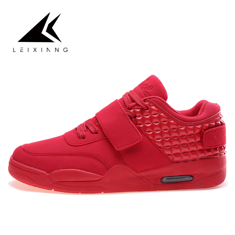 Baskets Homme 2018 Men Basketball Shoes Comfortable Men Shoes Outdoor Unisex Air Cushion Sport Shoes Men Trainers Zapatillas Red