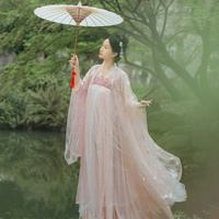 Chinese Traditional Fairy Costume Ancient Han Dynasty Princess Clothing National Hanfu Outfit Stage Dress Folk Dance Costume