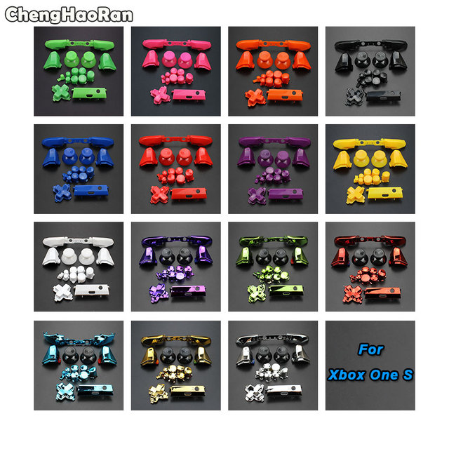 ChengHaoRan Full Set Solid RB LB Bumper RT LT Trigger Buttons Mod Kit For Microsoft Xbox One S Slim Controller Analog Stick Dpad