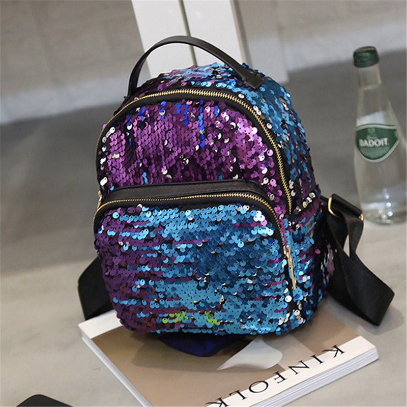 все цены на LXFZQ mochilas laser Portfolios for schools a bag Satchel Backpack for girls School backpack for girls Sequins rugzak sac a dos