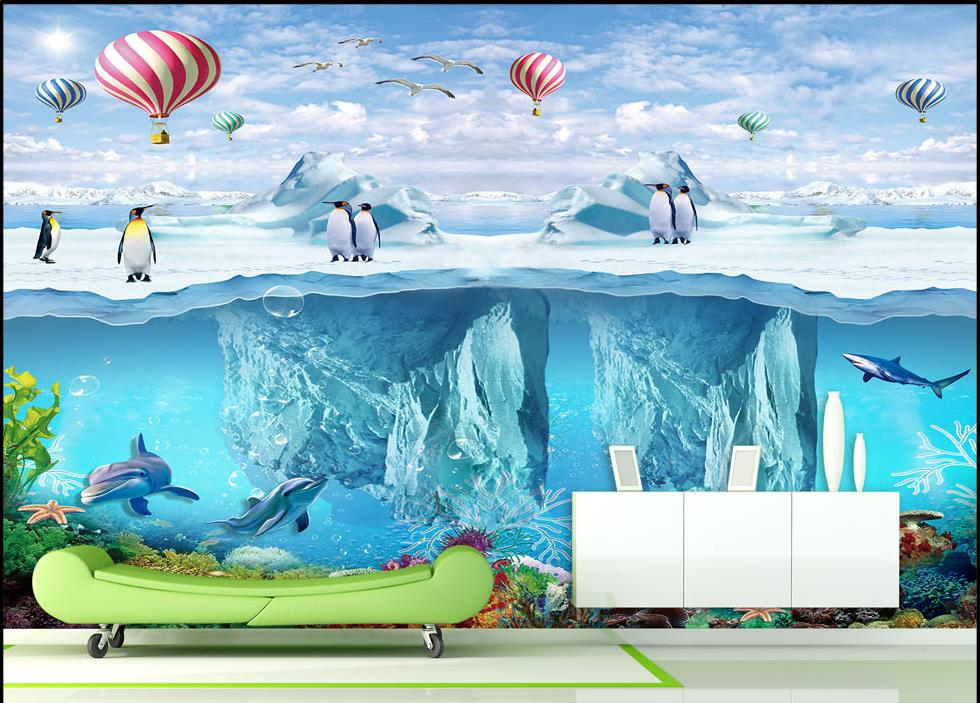Popular penguin wall mural buy cheap penguin wall mural for Cheap wallpaper mural