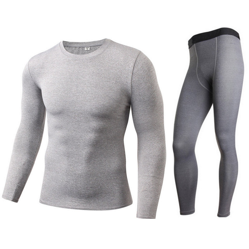 Motorcycle Men Thermal Underwear Suits Set Skiing Winter Warm Base Layers Tight Long Tops & Pants Women S-XXL