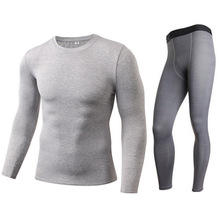 Motorcycle Men Thermal Underwear Suits Set Skiing Winter Warm Base Layers Tight Long Tops & Pants Women Thermal Underwear S-XXL winter warm outdoor sports thermal underwear set polartec long johns men women thermal underwear top pants cycling base layers 4